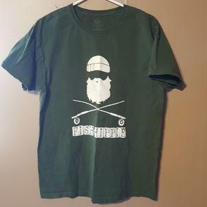 "Other - Green ""Fish Hippie"" Shirt"